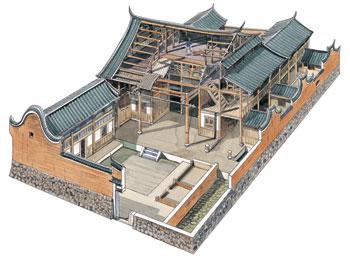 李乾朗手绘中国古建筑--民居